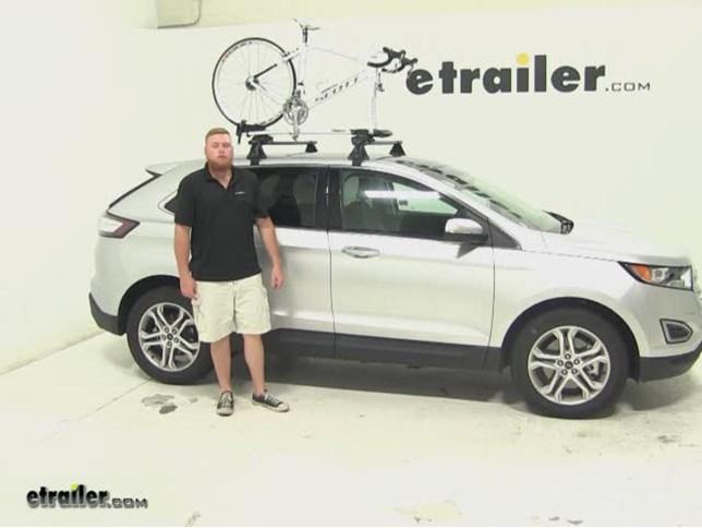 Thule Sprint Roof Bike Racks Review  Ford Edge Etrailer