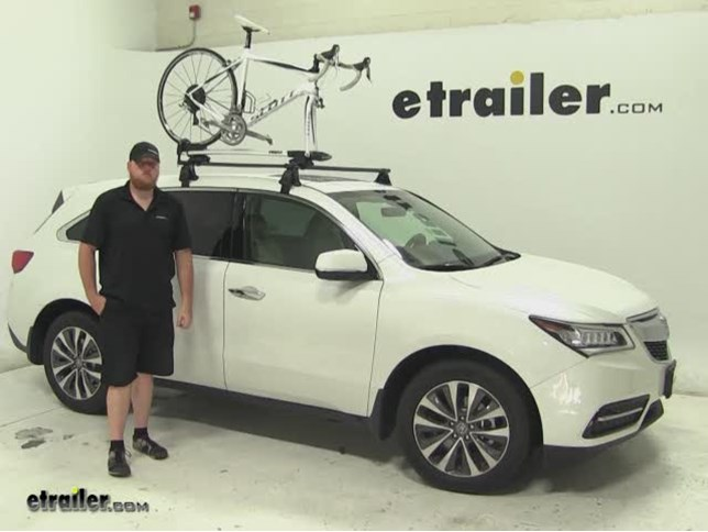 Thule Sprint Roof Bike Racks Review Acura MDX Video - Acura mdx bike rack