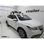 Thule SUP Taxi XT Stand-Up Paddleboard Carrier Installation - 2016 Acura MDX