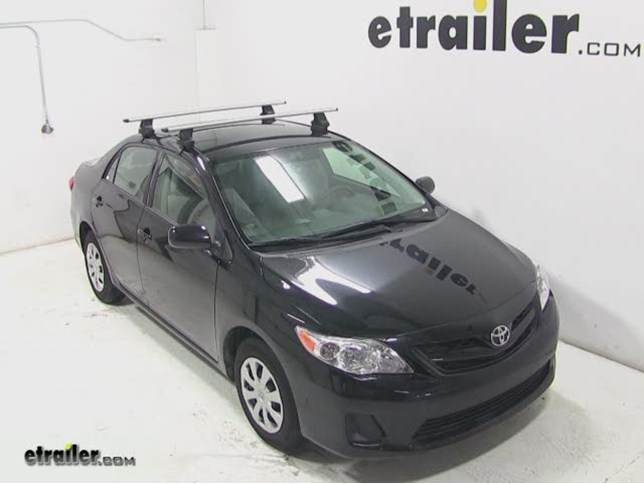 Thule AeroBlade Traverse Roof Rack Installation   2013 Toyota Corolla Video  | Etrailer.com