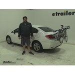 Thule  Trunk Bike Racks Review - 2013 Honda Civic