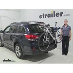 Thule  Trunk Bike Racks Review - 2014 Subaru Outback Wagon