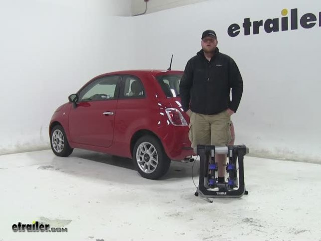 Today On Our 2015 Fiat 500, Weu0027re Going To Be Doing A Test Fit Of The Thule  Race Way Pro. This Is Going To Be Your Hanging Style 2 Bike Rack Thatu0027s ...