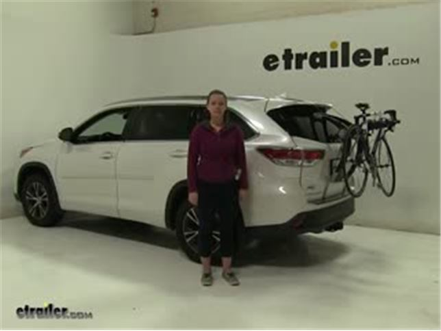 Thule Trunk Bike Racks Review 2016 Toyota Highlander Video Etrailer