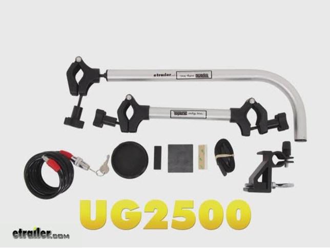 Top Line UG2500-2 Uni-Grip Truck Bed Bike Rack for 2 Bike Carrier