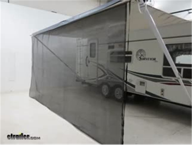 Video Of Valterra Awning Drape W Solar Powered Rope Light And Dual Utility Track For RV
