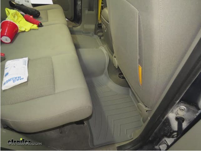 WeatherTech 2nd Row Rear Floor Mat Review   2005 Jeep Liberty Video |  Etrailer.com