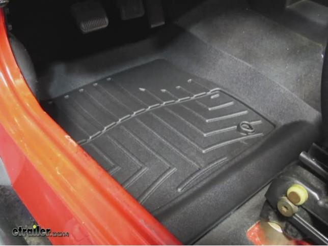 WeatherTech Front Floor Liners Review   2005 Jeep Wrangler Video |  Etrailer.com