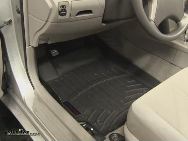 WeatherTech Front Floor Liners Review   2009 Toyota Camry Video |  Etrailer.com