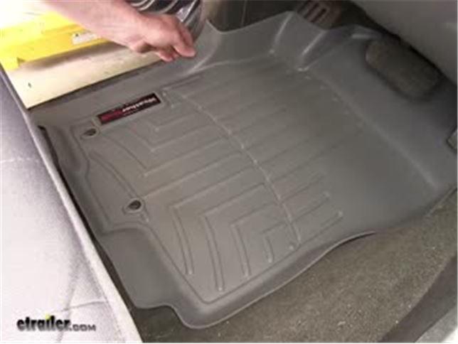 WeatherTech Front Floor Liners Review   2010 Nissan Pathfinder Video |  Etrailer.com
