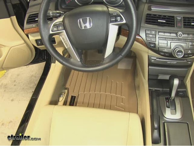 weathertech front floor liners review - 2011 honda accord video