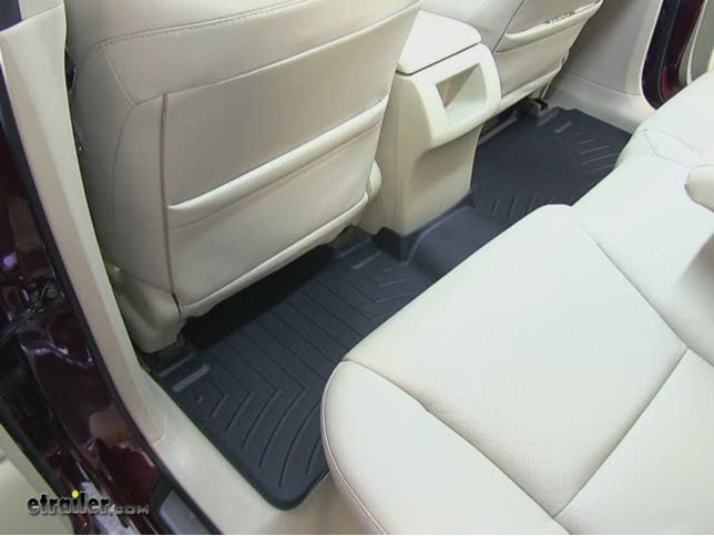 WeatherTech Nd Row Rear Floor Mat Review Acura RDX Video - Acura floor mats
