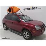 Yakima BigStack Roof Mounted 2 Kayak Carrier Installation - 2008 Hyundai Tucson