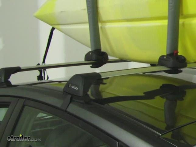 Yakima BigStack Roof Mounted 2 Kayak Carrier Review Video   Etrailer.com