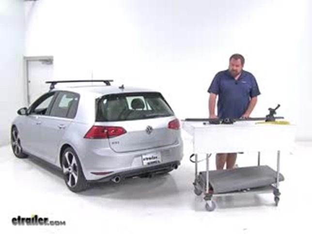 Yakima JetStream Crossbars Installation - 2016 Volkswagen Golf Video