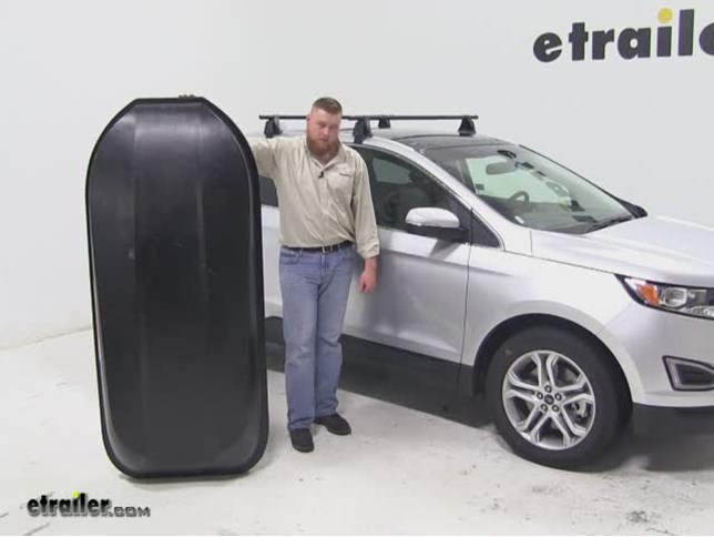 Yakima Rocketbox Pro Roof Cargo Carrier Review  Ford Edge Video Etrailer Com