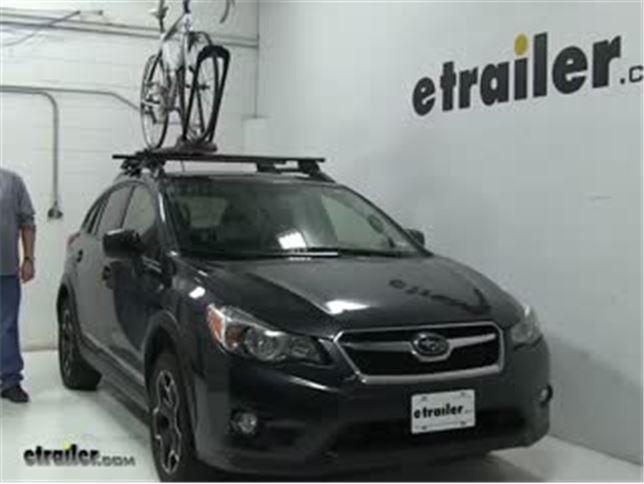 Yakima Roof Bike Racks Review 2017 Subaru Xv Crosstrek Video Etrailer