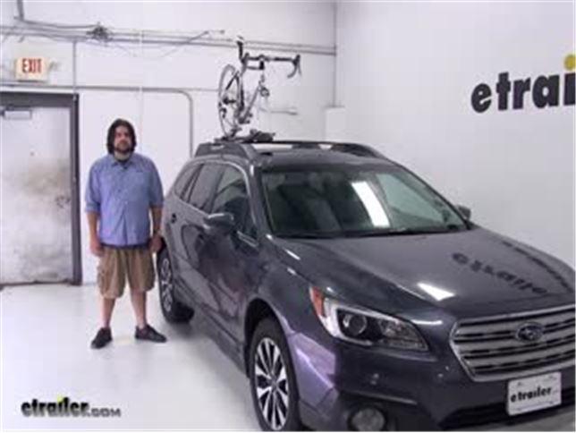 Yakima Roof Bike Racks Review 2017 Subaru Outback Wagon Video Etrailer