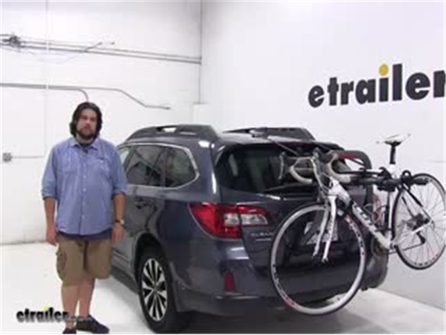 Yakima Trunk Bike Racks Review 2017 Subaru Outback Wagon Video Etrailer