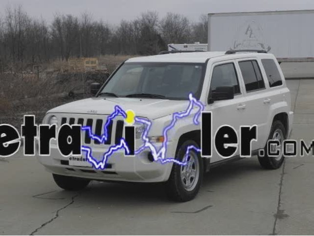trailer wiring harness installation 2010 jeep patriot video rh etrailer com 2000 jeep wrangler trailer wiring harness 2009 jeep patriot trailer wiring harness