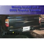 Trailer Wiring Harness Installation -  2000 Toyota Tacoma
