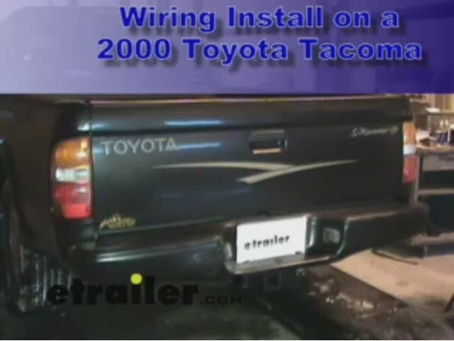 Trailer Wiring Harness Installation - 2000 Toyota Tacoma Video ... on brake controller wiring diagram, trailer harness diagram, 4 prong rv wiring, tundra headlight wiring diagram, rv wiring diagram, 4 pin trailer diagram, camper converter wiring diagram, 12vdc relay wiring diagram, 7 pin trailer connector diagram, ford 7-way wiring diagram, 4 prong trailer lights, nema plug diagram,