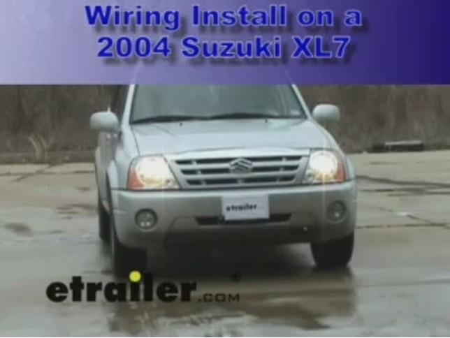 Trailer Wiring Harness Installation 2004 Suzuki Xl7 Video