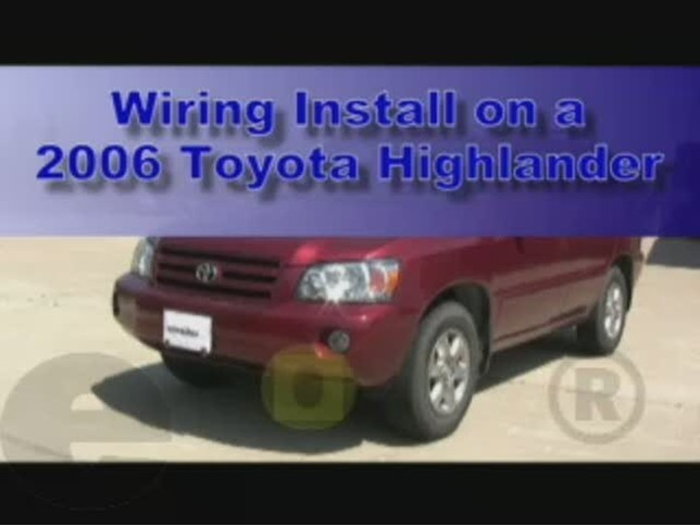 wiring_install_2006_toyota_highlander_644 trailer wiring harness installation 2006 toyota highlander video Toyota Tacoma Trailer Hitch Wiring at n-0.co