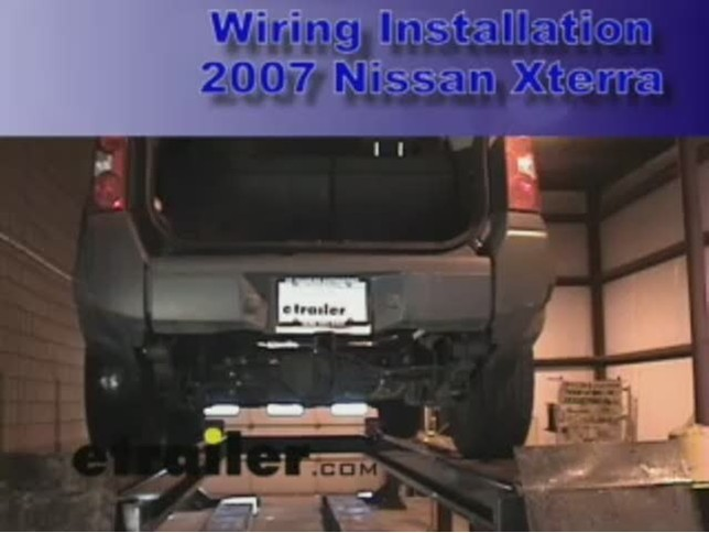 wiring_install_2007_Nissan_Xterra_644 trailer wiring harness installation 2007 nissan xterra video Wiring Harness Diagram at bayanpartner.co