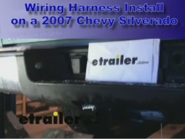 chevy trailer wiring harness