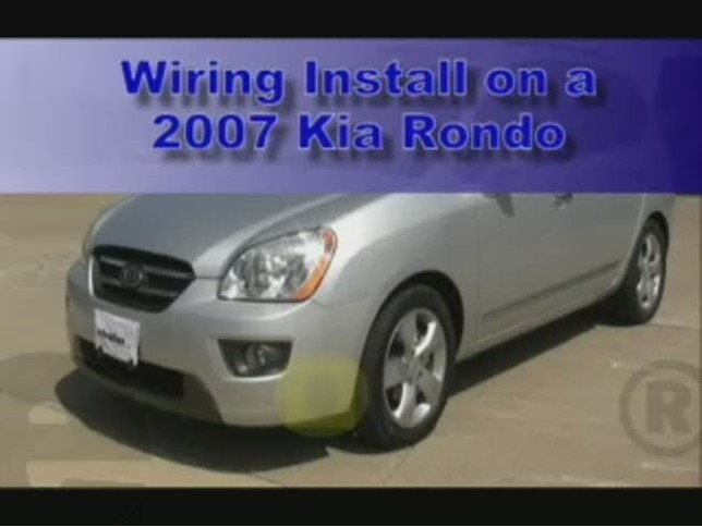 trailer wiring harness installation 2007 kia rondo video rh etrailer com