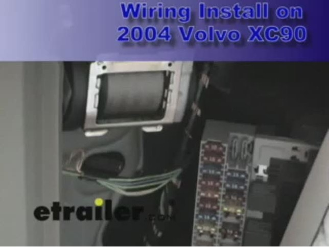 How to install a trailer wiring harness on volvo xc
