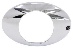 Chrome Bezel for Optronics GloLight M3 Series LED Trailer Clearance or Side Marker Light