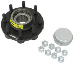 "Dexter Trailer Hub - Nev-R-Lube - 8 on 6-1/2 - E-Coat - 5/8"" Bolts - 8,000 lbs"