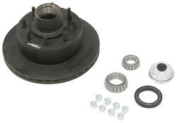 "Dexter 12-1/4"" Hub-and-Rotor Assembly - Oil - 8 on 6-1/2 - E-Coat - 1/2"" Bolts - 7K"