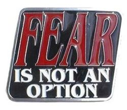 "Fear is Not an Option 2"" Trailer Hitch Receiver Cover"