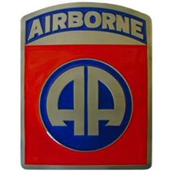 "U.S. 82nd Airborne ""AA"" 2"" Trailer Hitch Receiver Cover"