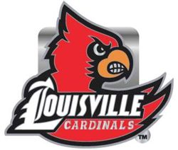 "Louisville Cardinals 2"" Trailer Hitch Receiver Cover"