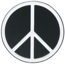 "Peace Sign Trailer Hitch Cover for 2"" Trailer Hitches"
