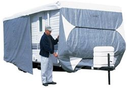 Classic Accessories PolyPro III Deluxe Travel Trailer Cover - Model 1 up to 20' RVs Grey