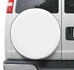 "Classic Accessories Custom Fit Spare Tire Cover - Model 4 26-1/2""- 27-1/2"" Snow White"