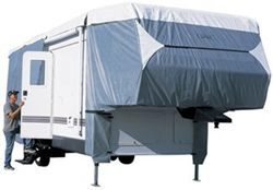 Classic Accessories PolyPro III Deluxe 5th Wheel Cover - Model 3 26'- 29' RVs Grey