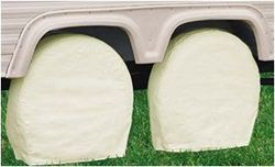 "Classic Accessories RV Wheel Covers - Model 0 19"" - 22"" Snow White"