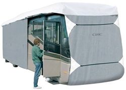 Classic Accessories PolyPro III Deluxe Extra Tall Class A RV Cover - Model 5 30-33' RVs Grey