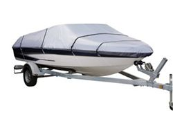 Classic Accessories Stearns Silver - Tech Boat Cover -16' to 18.5' (beam widt