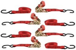 "Erickson Easy Ratchet Tie-Down Straps w/ Release Levers - 1"" x 6' - 660 lbs - Qty 4"