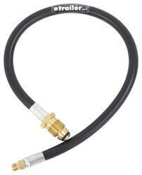 "MB Sturgis Sturgi-Stay Propane Fill Hose - POL Pigtail x 1/4"" Male Inverted Flare - 2'"