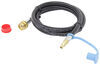 mb sturgis propane hoses 1/4 inch - male qd quick disconnect hose for small appliance disposable cylinder port 6'