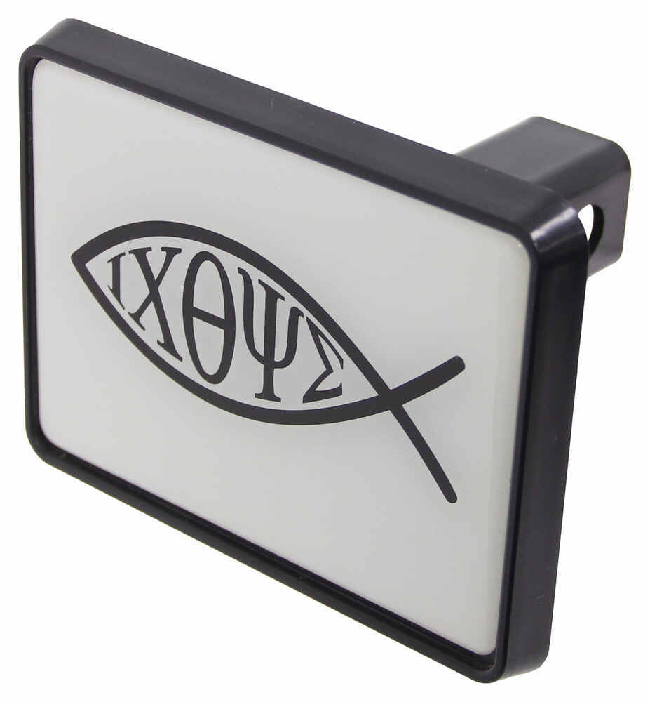 Christian fish trailer hitch cover for 1 1 4 trailer for Fish hitch cover