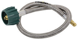 "MB Sturgis Propane Pigtail - Stainless Overbraid - Type 1 x 1/4"" Male Inverted Flare - 2'"